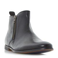 Howick Marshel Smart Double Zip Ankle Boots Black