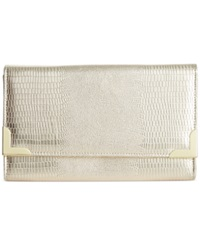 Style And Co. Exotic Diane Clutch Champagne