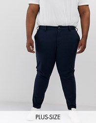 Only And Sons Slim Fit Smart Trousers In Navy