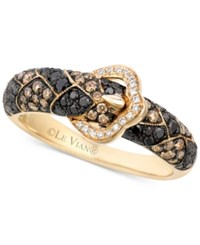Le Vian Exotics Diamond Buckle Ring 3 4 Ct. T.W. In 14K Gold Yellow Gold
