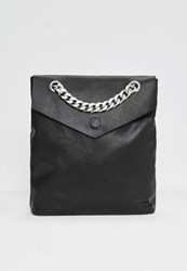 Missguided Black Statement Chain Backpack