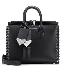Calvin Klein 205W39nyc Small Whipstitch Leather Tote Black