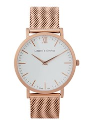 Larsson And Jennings Chain Metal Rose Gold Plated Watch