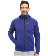 Nike Therma Sphere Training Hoodie Deep Royal Blue Black Black Men's Coat