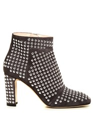Christopher Kane Stud Embellished Suede Ankle Boots Grey Multi