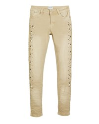 Mayoral Pearly Studded Jeans Size 8 16 Beige