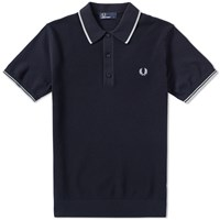 Fred Perry Knitted Polo Blue