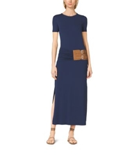 Michael Kors Matte Jersey T Shirt Dress Indigo