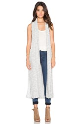 Bobi Boucle Long Vest Gray
