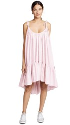 Riller And Fount Diana Tiered Midi Dress Pink White
