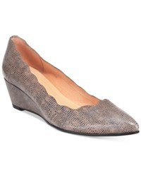 French Sole Fs Ny Terrazzo Pointed Toe Wedge Pumps Women's Shoes Natural