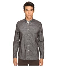 Billy Reid Brushed Twill Shirt Brown Men's Long Sleeve Button Up
