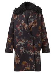 Jigsaw Needle Punch Floral Coat Multi