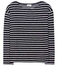 Closed Striped Cotton Sweater Blue