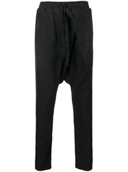 Alchemy Dropped Crotch Track Trousers Black