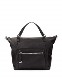 Frye Natalie Moto Leather Tote Bag Black