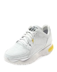 Fendi Fancy Chunky Photosensitive Color Changing Sneakers White