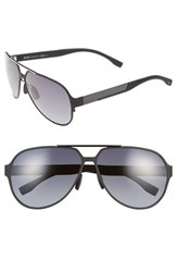 Men's Boss 63Mm Aviator Sunglasses Black Ruthenium Grey Gradient