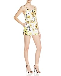 Alice Olivia Cassia Flutter Romper Daisy Field All Over