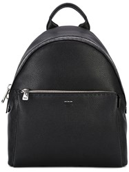 Fendi Zip Around Backpack Men Leather Polyester One Size Black