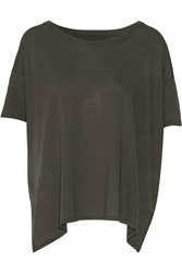 Enza Costa Pima Cotton Top Gray