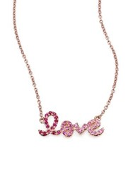 Sydney Evan Love Ombre Ruby Multicolor Sapphire And 14K Rose Gold Pendant Necklace Rose Gold Pink