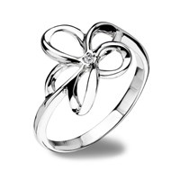 Hot Diamonds Paradise Flower Ring Silver