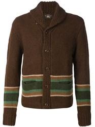 Rrl Shawl Collar Cardigan Brown