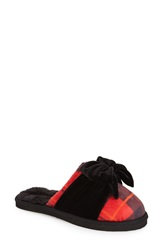 Kate Spade New York 'Britney' Scuff Slipper Women Black Red Suede