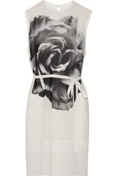 Mcq By Alexander Mcqueen Printed Georgette Mini Dress Ivory