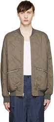 3.1 Phillip Lim Green Quilted Bomber