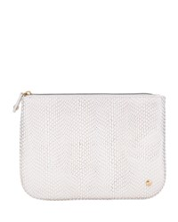 Stephanie Johnson Havana White Large Flat Pouch