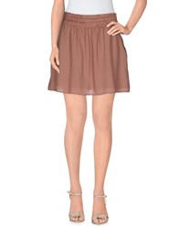 Maison Scotch Mini Skirts Light Brown