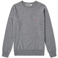 A Bathing Ape One Point Crew Knit Grey