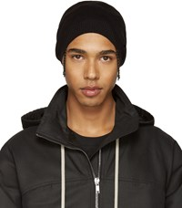 Rick Owens Black Medium Beanie