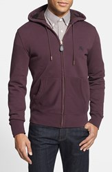 Men's Burberry Brit 'Pearce' Full Zip Hoodie Deep Burgundy