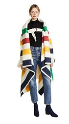 Monse Hudson's Bay Blanket Coat Multi Stripe