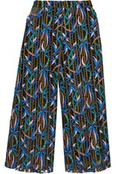 Msgm Embroidered Tulle Culottes Multi