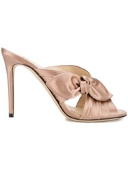 Jimmy Choo Keely 100 Mules Pink And Purple