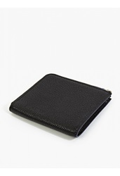 Jil Sander Black Grained Leather Wallet