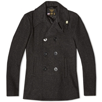 Fidelity Usn Wool Mix Pea Coat Charcoal