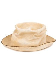 Horisaki Design And Handel Turn Up Brim Hat Nude And Neutrals