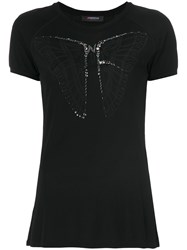 Jo No Fui Embellished Butterfly T Shirt Cotton Polyamide Polyester Glass M Black