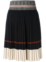 Jean Paul Gaultier Vintage Knitted Pleated Skirt Black
