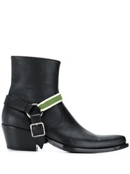 Calvin Klein 205W39nyc Buckle Detail Boots Black