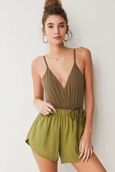 Out From Under Adelaide Wrap Bodysuit Olive
