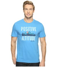 Life Is Good Positive Altitude Crusher Tee Marina Blue Men's T Shirt