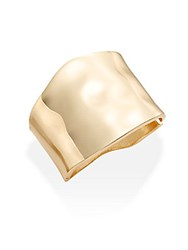 Saks Fifth Avenue June '16 Metals Hammered Cuff Bracelet Gold