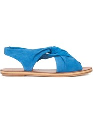 Derek Lam 10 Crosby Crossover Front Flat Sandals Blue