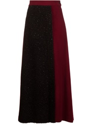 Nocturne 22 Nocturne 22 Boucle Knit Wrap Skirt Red